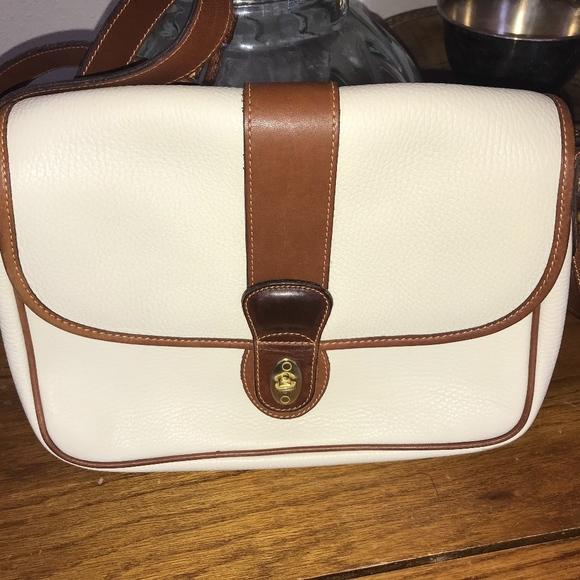 COACH Handbags - Coach Beige and Brown Leather Crossbody C4B-4225